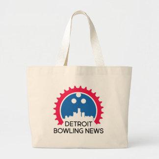 DetroitBowlingNews.com Large Tote Bag