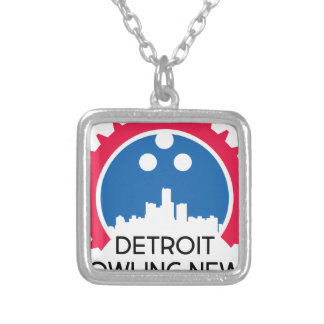 DetroitBowlingNews.com Silver Plated Necklace