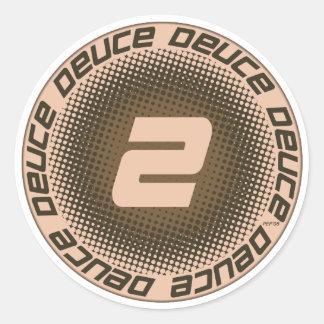 Deuce #1 classic round sticker
