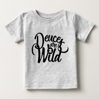 deuces are wild (baby) birthday tee