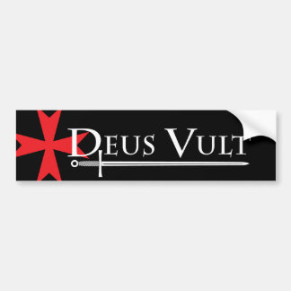 Deus Vult (God Wills It!) Bumper Sticker Black