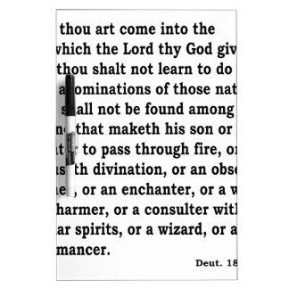Deut. 18: 9-12 dry erase white board