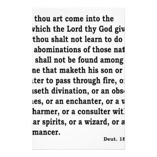 Deut. 18: 9-12 stationery