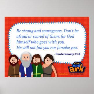 Deuteronomy 31:6 poster