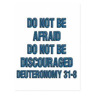 Deuteronomy 31:8 postcard