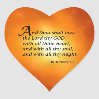 Deuteronomy 6:5 heart sticker