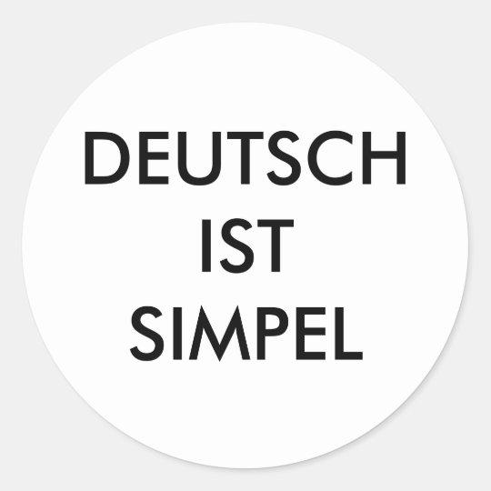 ''Deutsch ist simpel'' stickers (Zagoooooo)