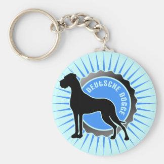 Deutsche Dogge stern blau Keychain