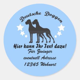 Deutsche Doggen Classic Round Sticker
