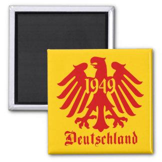 Deutschland 1949 German Eagle Emblem Square Magnet