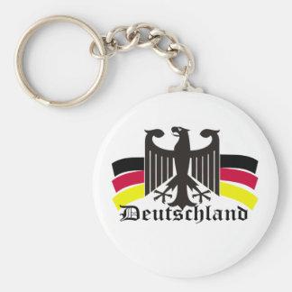 deutschland basic round button keychain