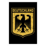 Deutschland Eagle -  German Coat of Arms Poster