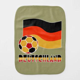 Deutschland Flag and Soccer Ball Burp Cloth