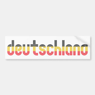Deutschland flag colors! bumper sticker