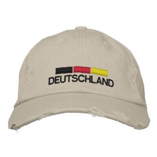 Deutschland Fussball Distressed Embroidered Cap