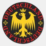Deutschland German Eagle Emblem Round Stickers
