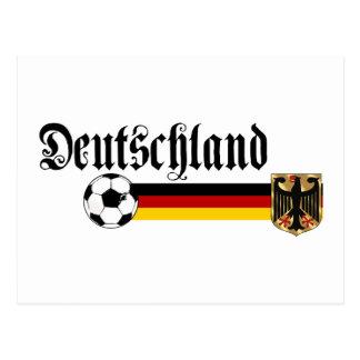 Deutschland large fussball logo postcard