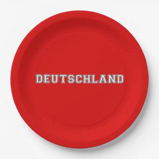 Deutschland Paper Plate