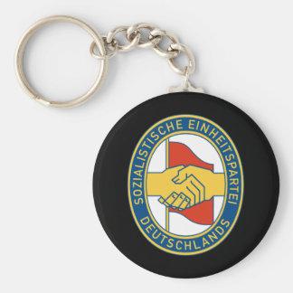 Deutschland SED - German Socialist Worker Party Basic Round Button Keychain