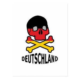 Deutschland Skull Postcard