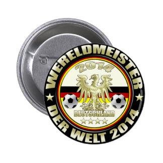 Deutschland Weltmeister der Welt Adler 2014 Flagge Button