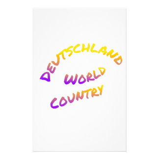 Deutschland world country, colorful text art custom stationery