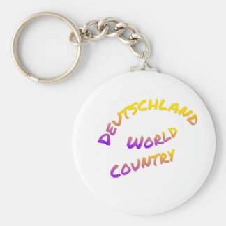 Deutschland world country, colorful text art keychain