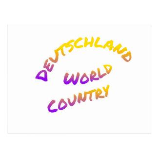 Deutschland world country, colorful text art postcard