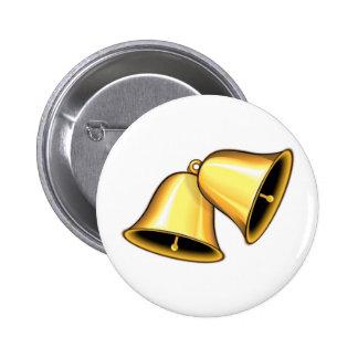 Deux Bells d'or Macaron Rond 5 Cm