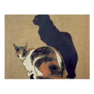 Deux chats, 1894 carte postale