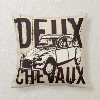 Deux Chevaux 2CV Throw Pillow