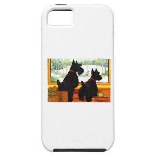 Deux chiens de Scotty à Noël Coque iPhone 5 Case-Mate