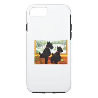 Deux chiens de Scotty à Noël Coque iPhone 7