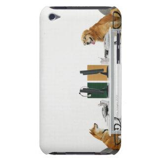 Deux chiens portant la cravate et les lunettes, se coque barely there iPod
