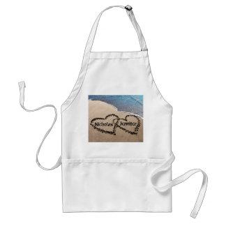 Deux coeurs dans le tablier de sable