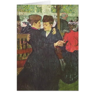 Deux femmes dansant - Art Card