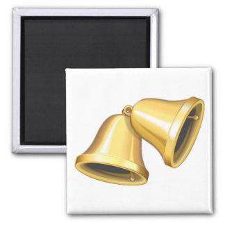 Deux or Bells Magnet Carré