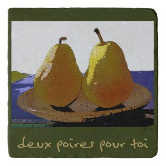 Deux poires pour toi, two pears trivet