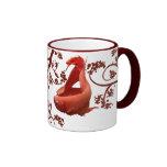 Deux rouge Bettas Mug À Café