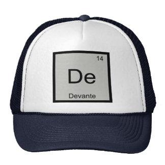 Devante Name Chemistry Element Periodic Table Trucker Hat