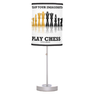 Develop Your Imagination Play Chess Table Lamp