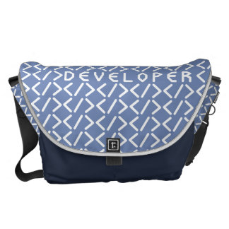 Developer / Large Messenger Bag Outside Print