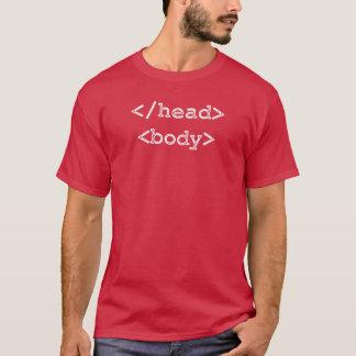 Developer Programmer HTML Head Body T-Shirt