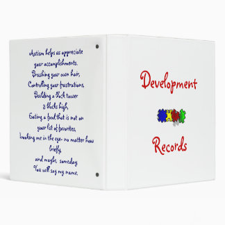Development Records 3 Ring Binders