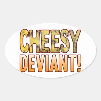 Deviant Blue Cheesy Oval Sticker