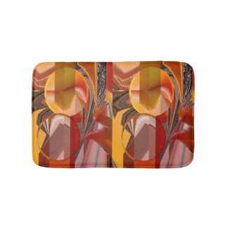 Device Red and Orange Abstract Bathroom Mat