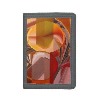 Device Red and Orange Abstract Tri-fold Wallet