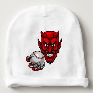 Devil Baseball Sports Mascot Baby Beanie