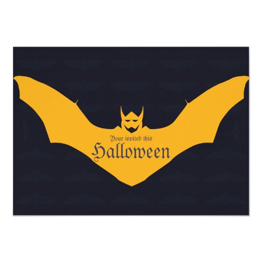 Devil Bat Halloween Card
