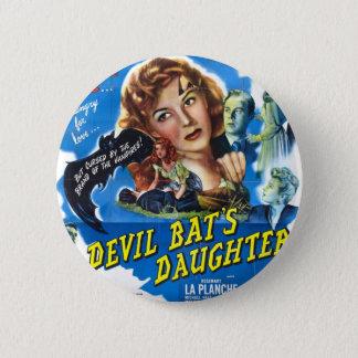 Devil Bat's Daughter, vintage horror movie poster 2 Inch Round Button